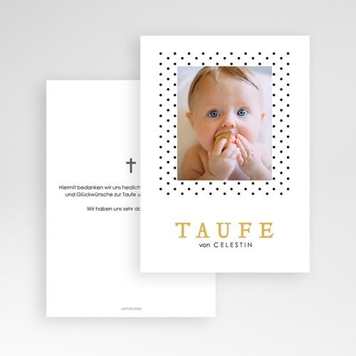 Dankeskarten Taufe Jungen Punktemotiv pas cher