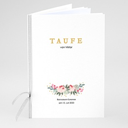 Kirchenhefte zur Taufe Watercolour floral