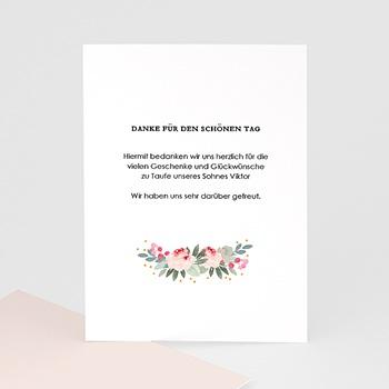 Dankeskarten Taufe Mädchen - Watercolour floral - 0