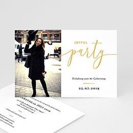 40 Jahre Alt Einladungskarten Geburtstag - Joyful 40 - 0