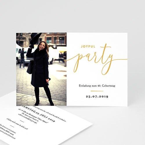 Einladung 40. Geburtstag - Joyful 40 64118 thumb