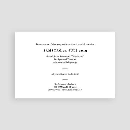 Einladung 40. Geburtstag - Joyful 40 64119 thumb