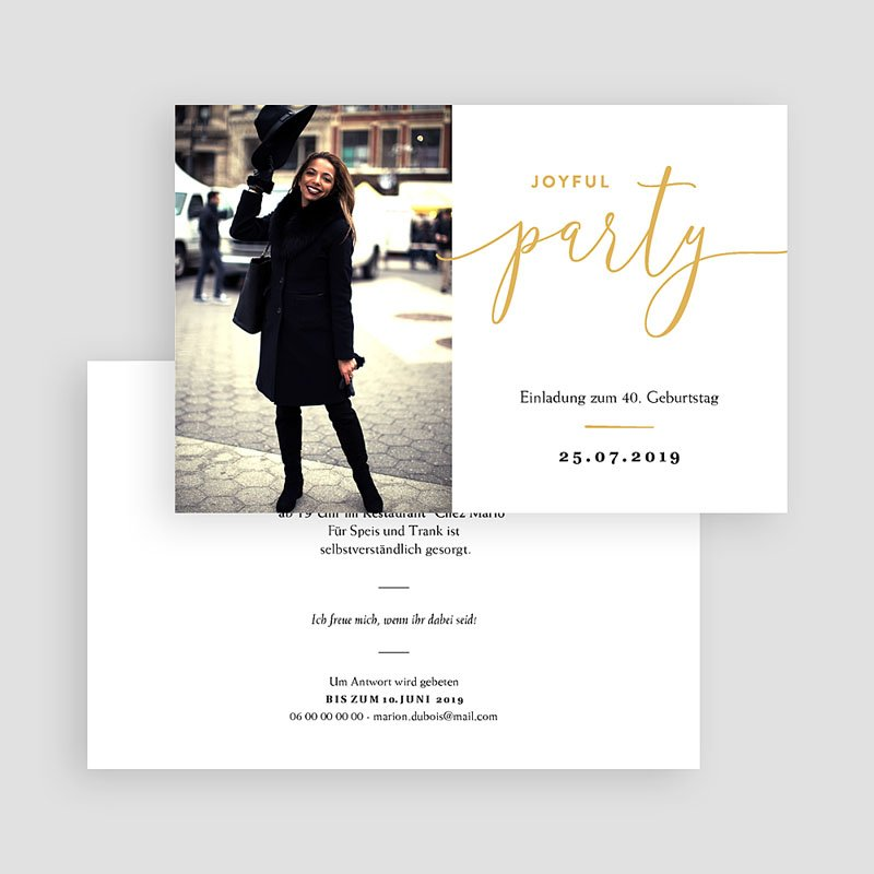 Einladung 40. Geburtstag - Joyful 40 64120 thumb