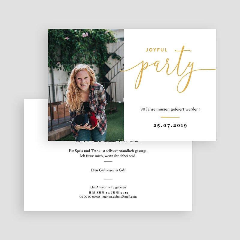 30 Jahre Alt Einladungskarten Geburtstag Joyful 30 gratuit