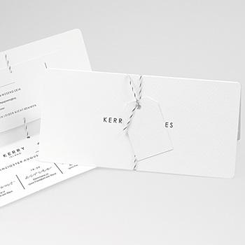 Klassische Hochzeitskarten  - Simply White - 0