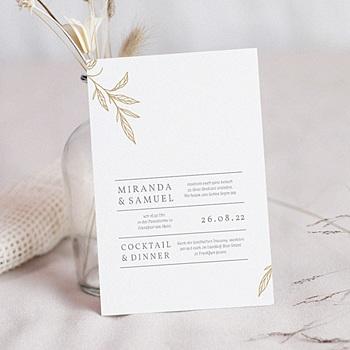 Einladungskarten Hochzeit  - Minimalist Botanik - 0