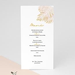 Menükarten Hochzeit Palmenblatt Gold