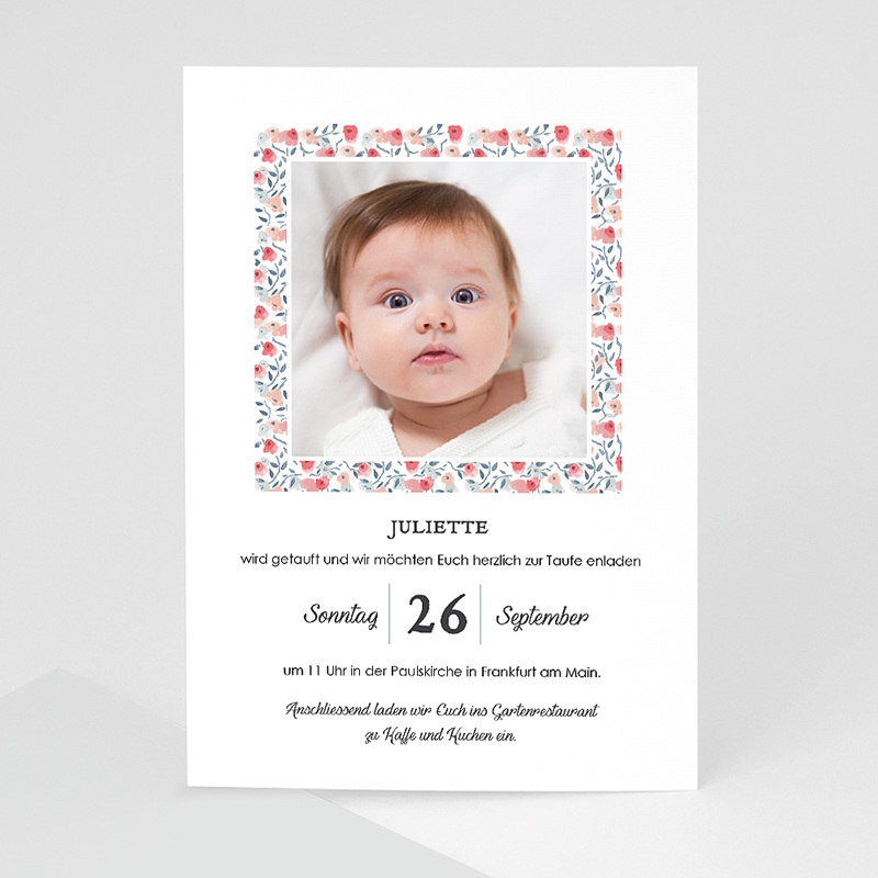 Einladungskarten Taufe Mädchen - Liberty Taufe 64204 thumb