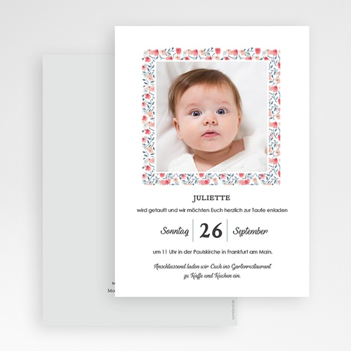 Einladungskarten Taufe Mädchen - Liberty Taufe 64206 thumb