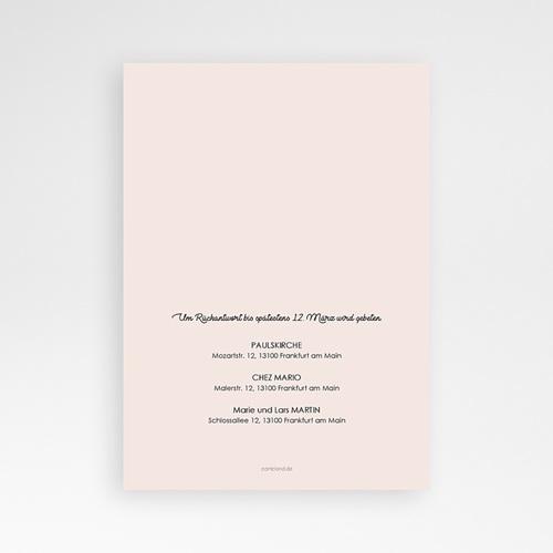 Einladungskarten Taufe Mädchen - Watercolour floral 64214 thumb