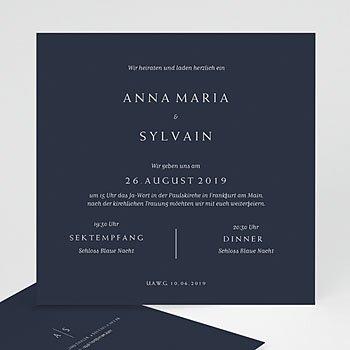 Kreative Hochzeitskarten - Moderner Minimalismus - 0