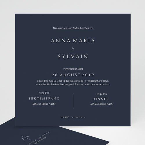 Kreative Hochzeitskarten - Moderner Minimalismus 64222 thumb