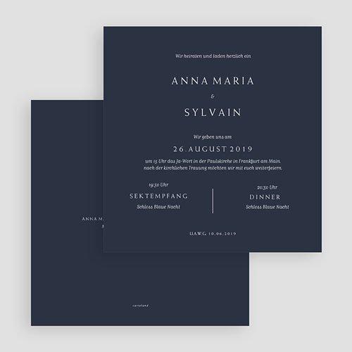 Kreative Hochzeitskarten - Moderner Minimalismus 64224 thumb