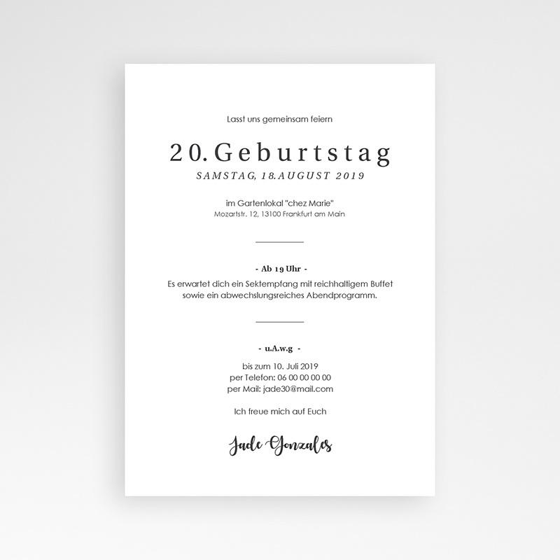 Einladung 20. Geburtstag - Glanzvoll 64247 thumb