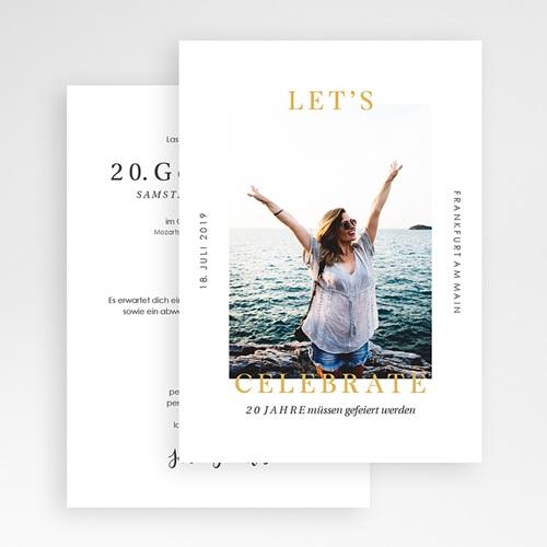 Einladung 20. Geburtstag - Glanzvoll 64248 thumb