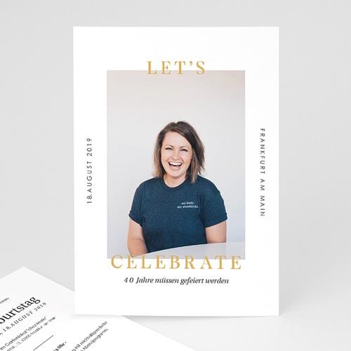 40 Jahre Alt Einladungskarten Geburtstag 40 Jahre - Let's celebrate