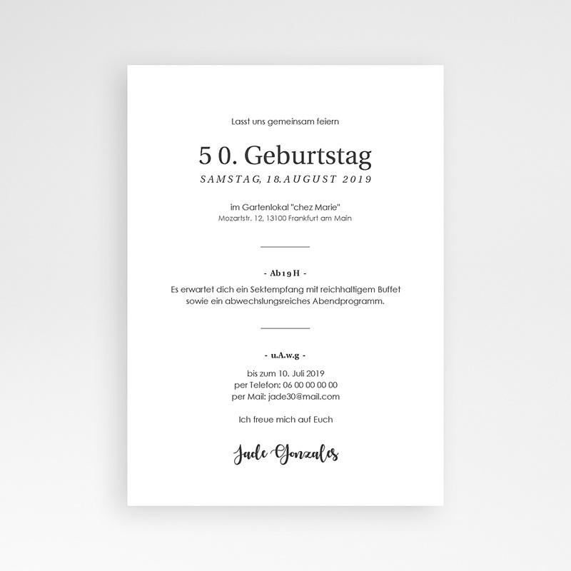 Einladung 50. Geburtstag 50 Jahre Let's celebrate pas cher