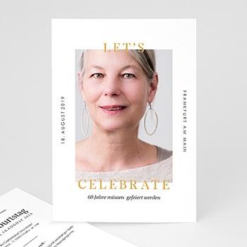 Einladung 60. Geburtstag - 60 Jahre Let's celebrate - 0