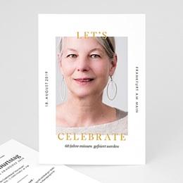 Einlegekarte Anniversaire adulte 60 Jahre Let's celebrate