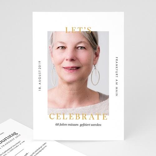 Einladung 60. Geburtstag - 60 Jahre Let's celebrate 64273 thumb