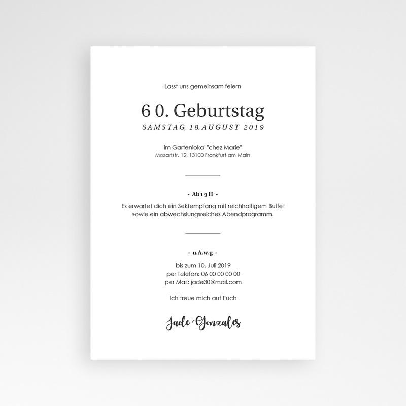 Einladung 60. Geburtstag - 60 Jahre Let's celebrate 64274 thumb