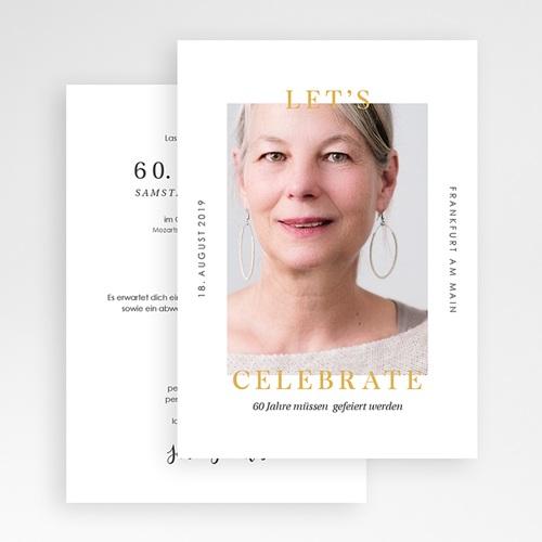 Einladung 60. Geburtstag - 60 Jahre Let's celebrate 64275 thumb