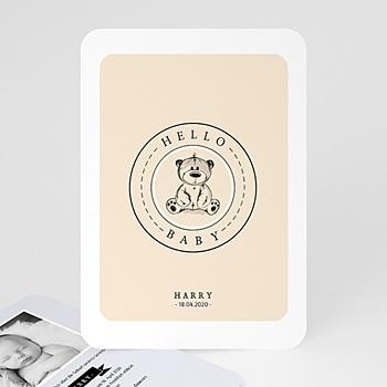 Geburtskarten für Jungen - Retro Teddybär - 0