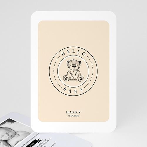 Geburtskarten mit Bär Retro Teddybär
