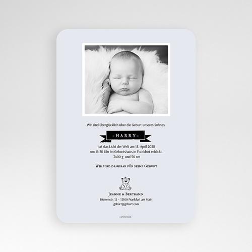 Geburtskarten mit Bär Retro Teddybär pas cher