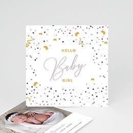 Karten Geburt Hello Baby Girl