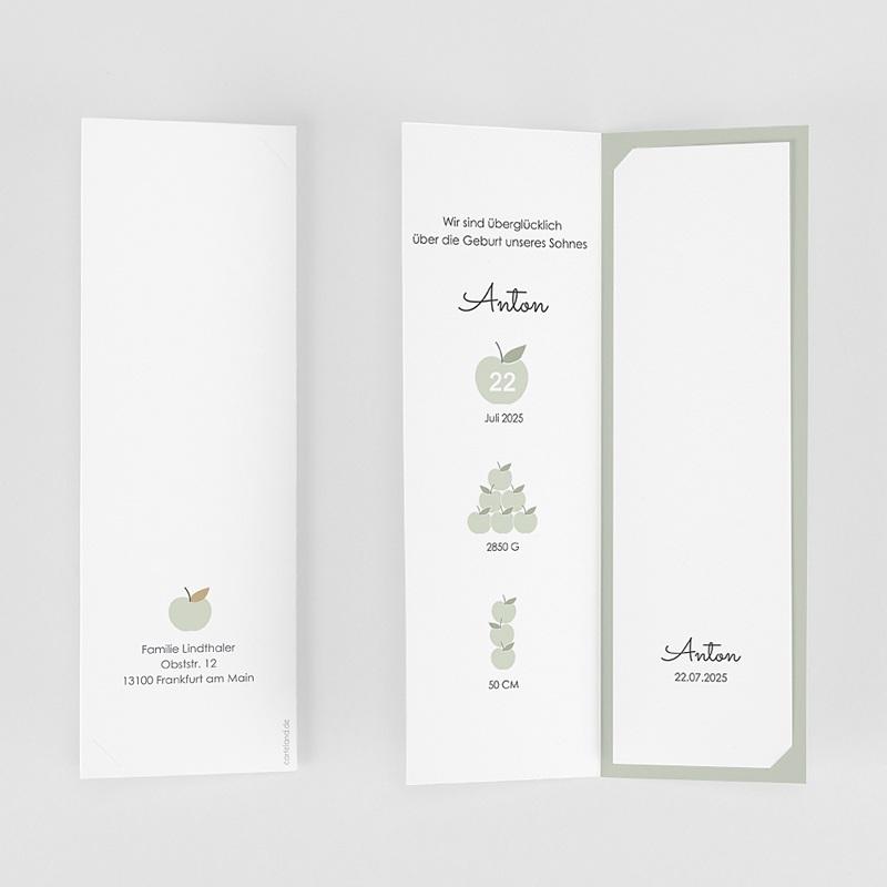 Geburtskarten für Jungen Mintgrün gratuit