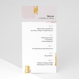 Menükarten Hochzeit Touch Gold