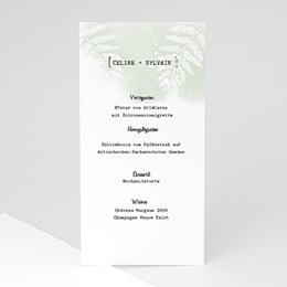 Menükarten Hochzeit Grünes Farn
