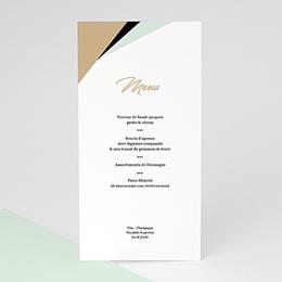 Menükarten Hochzeit Mint & Gold
