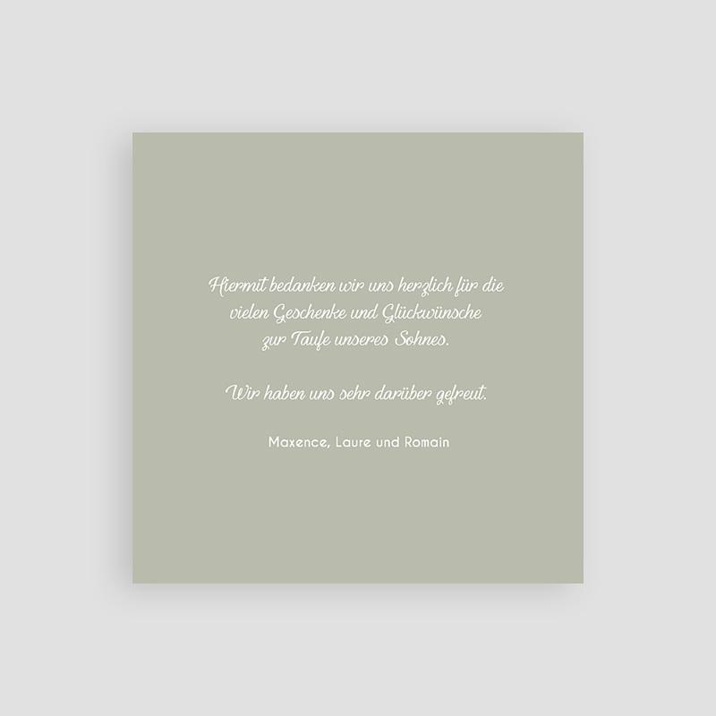 Dankeskarten Taufe Jungen - Danke Taube 64467 thumb