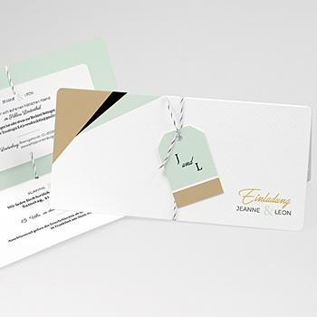 Kreative Hochzeitskarten - Mint & Gold - 0