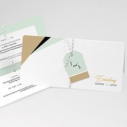 Karten Hochzeit Mint & Gold