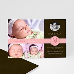 Dankeskarten Geburt Mädchen Mathilde