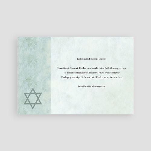 Israelitisch Dankeskarten Trauer Aufbruch pas cher