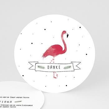 Danksagung Geburt Tiermotive - Flamingo exotisch - 0