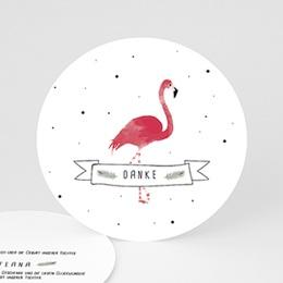 Danksagungskarten Geburt Flamingo exotisch