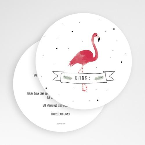 Danksagung Geburt Tiermotive - Flamingo exotisch 64791 thumb