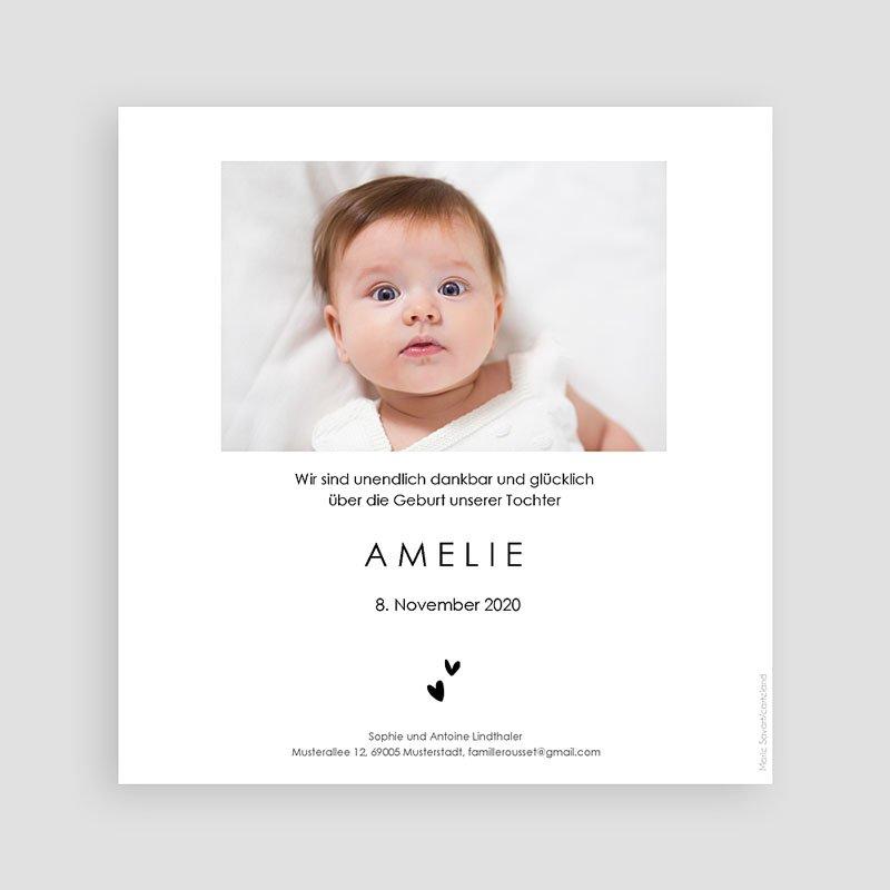 Geburtskarten für Mädchen Kleine Schwimmerin rose pas cher