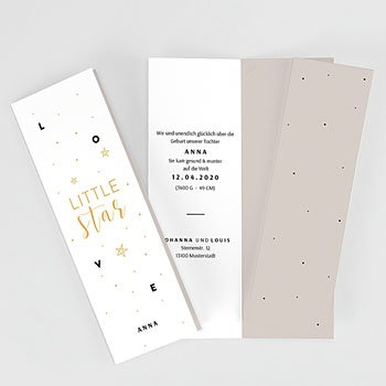 Geburtskarten für Mädchen - Little Star - 0