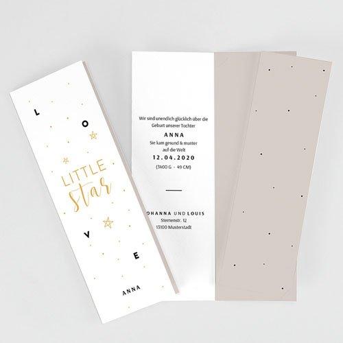 Geburtskarten für Mädchen Little Star pas cher