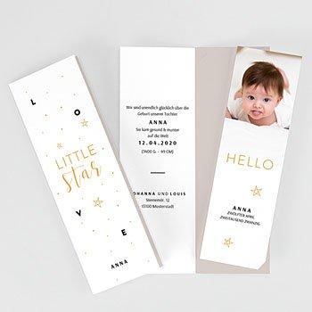 Geburtskarten für Mädchen - Little Star - 4