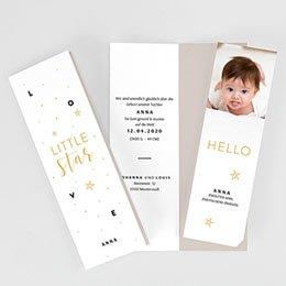 Karten Geburt Little Star