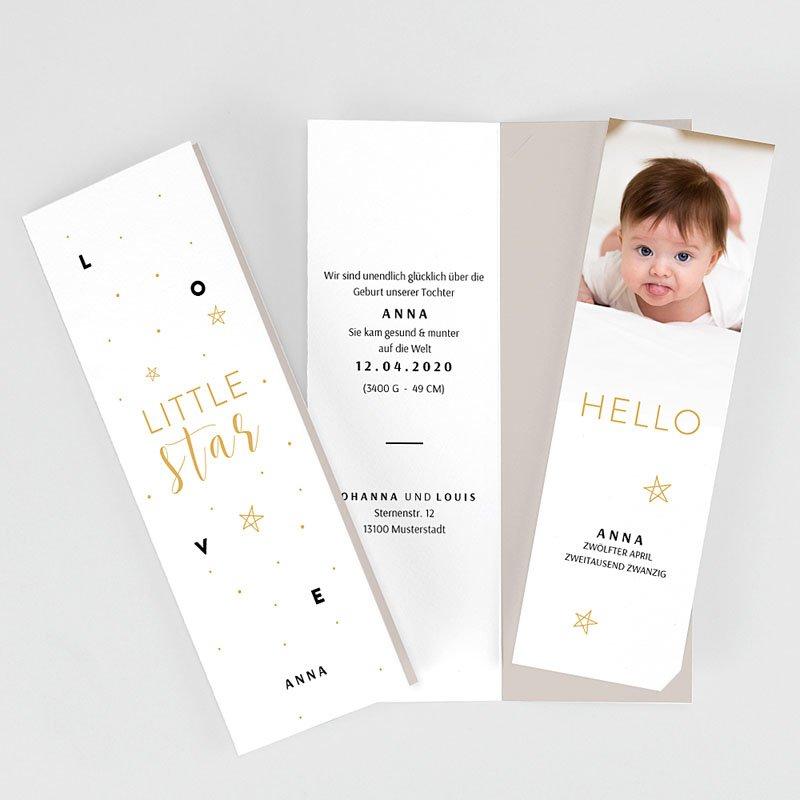 Geburtskarten für Mädchen Little Star