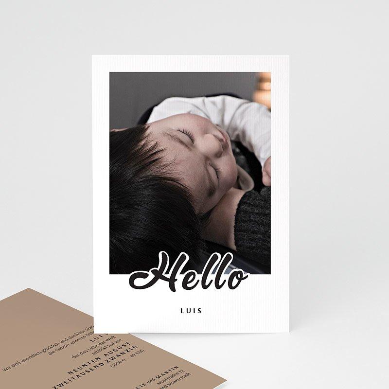 Geburtskarten für Jungen Black Hello
