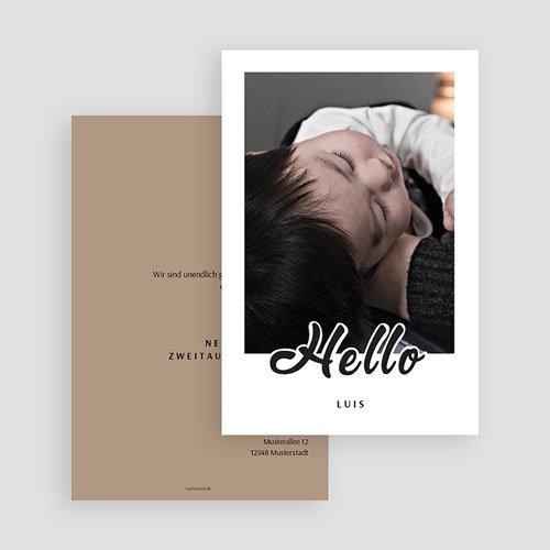 Geburtskarten für Jungen Black Hello gratuit